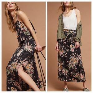 Anthropologie Maeve Blooming Flora Midi Skirt 8